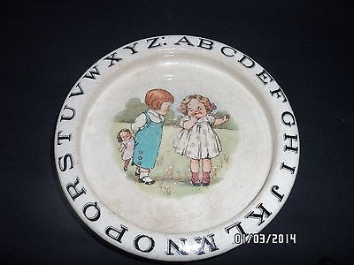 VERY old antique Baby dish with alphabet  unique and could be perfect gift off w