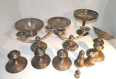 Lot of VTG Sterling Weighted Scrap 1900 g Compotes Candlestick 4 pounds