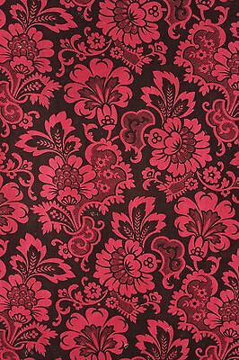 1880 red black Arts and Crafts design cotton printed material 19th French