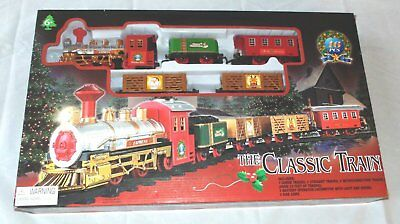 The Classic Train Battery Operated Christmas Tree Set electric light sound NEW