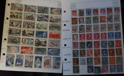 Collection Of Old France Stamps