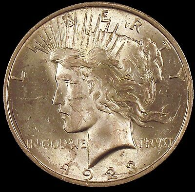 1923 (P) Brilliant Uncirculated (BU) Peace Silver Dollar - cp50