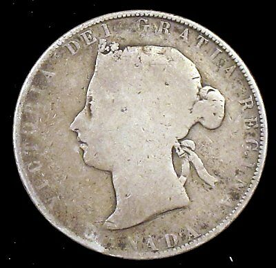 1871 Good (G) Canada 92.5% Silver 50 Cent - cd83