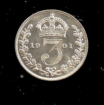 1901 BU Prooflike Great Britain Silver Three Pence - Maundy - uk55