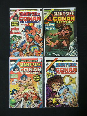 Giant-Size Conan The Barbarian #1-4 4 Issue Bronze Age Comic Lot Hgher Grade