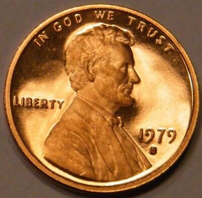 1979 S Lincoln Memorial Cent Type 1 Gem Proof Penny US Coin