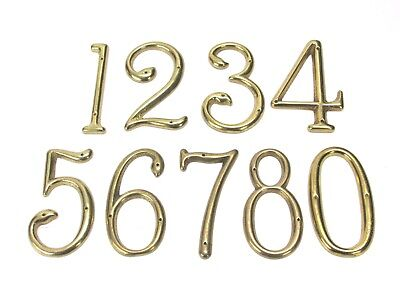 "Nos! Vintage Solid Brass House Numbers, 2-7/8"" Tall"