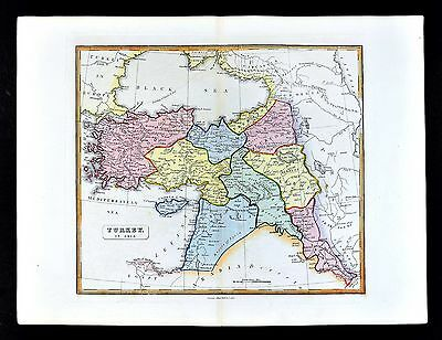 1839 Bell Map  Turkey Middle East Syria Iraq Algezira Israel Constantinople Asia