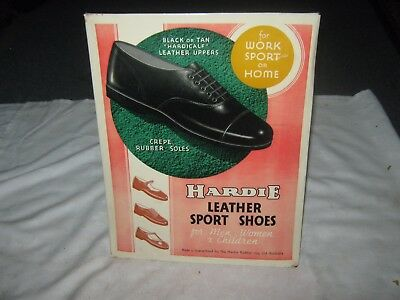 A Very Rare Vintage Celluloid Advertising Counter Top Sign Hardie Sports Shoes