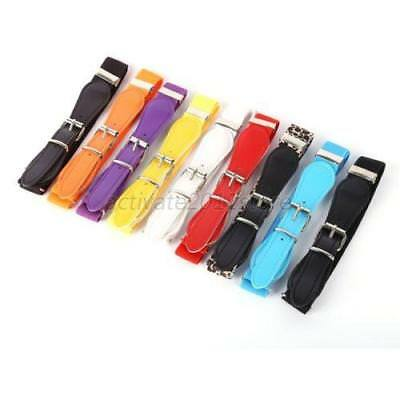 Cute Toddler Baby Kids Boy Girl PU Leather Belt Adjustable Elastic Waistband US