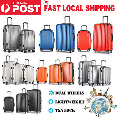 3PCS Luggage Suitcase Trolley Set TSA Lightweight Travel Carry On Bag Hard Case