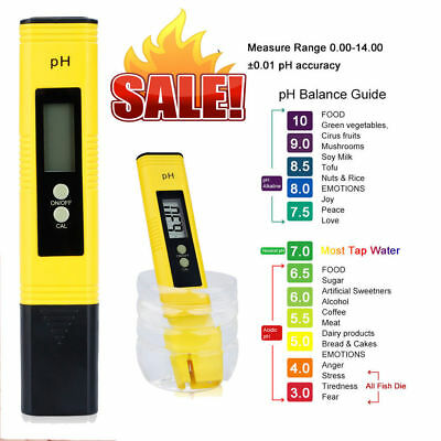 Digital PH Meter Tester Pocket Portable Pool Water Aquarium Hydroponic Wine Pen