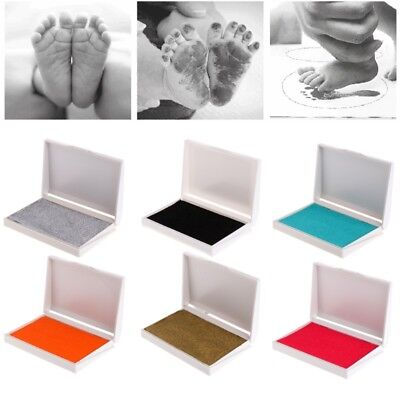 Children Baby Hands Foot Print Ink Pad Painting Colorful Stamper Craft Souvenir
