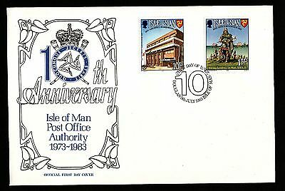 1983 Isle of Man, 10th Anniv. Post Office Authority, First Day Cover