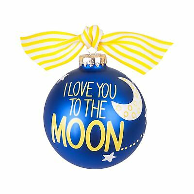 Coton Colors Blue Christmas Tree Bauble I Love You To The Moon And Back