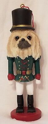 Pekingese Dog Soldier Holiday NUTCRACKER ORNAMENT