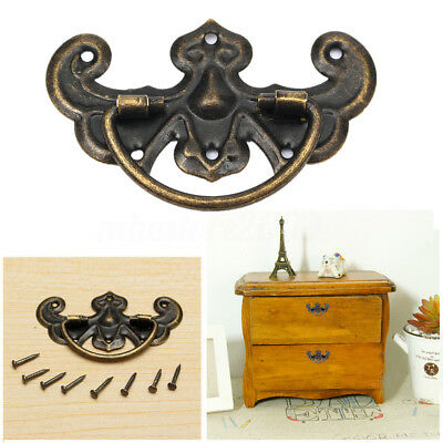 Vintage Kitchen Cupboard Door Cabinet Cup Drawer Furniture Shell Pull Handle LOT