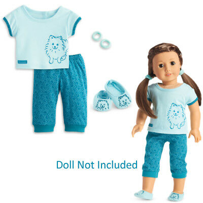 """American Girl TM POMERANIAN PAJAMAS for 18"""" Dolls Puppy Dog Clothes Pjs NEW"""