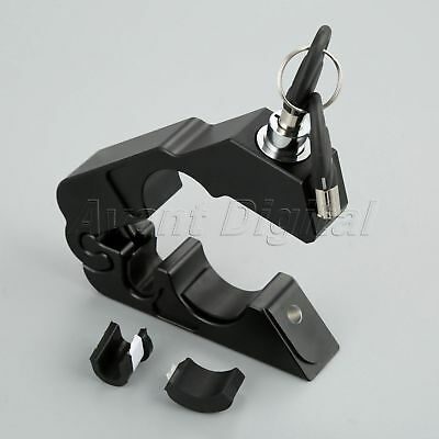 1X CNC Aluminum Motorcycle Handle Grip Brake Lever Anit Theft Security Caps-Lock