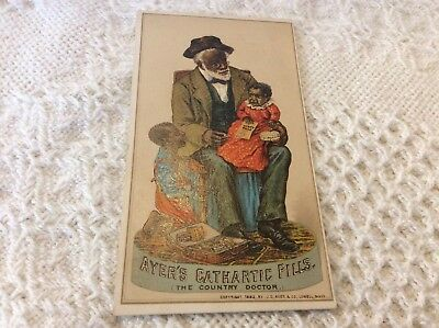1883 Advertising Card Ayer's Cathartic Pills Black Americana A1