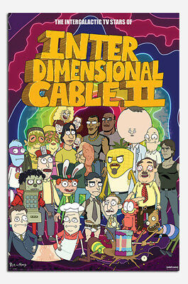 Rick and Morty Stars Of Interdimensional Cable Poster - Maxi Size 36 x 24 Inch