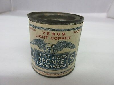 Vintage Bronze Powder  Paper Lable Tin Advertising Collectible  M-887