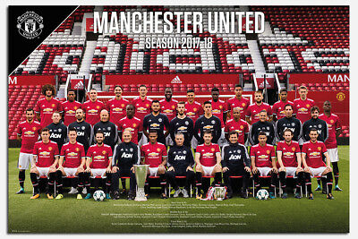 Manchester United Team Photo 2017 / 2018 Poster New - Maxi Size 36 x 24 Inch