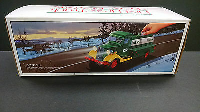 Vintage The First Hess Truck Toy Bank  w Box NOS new