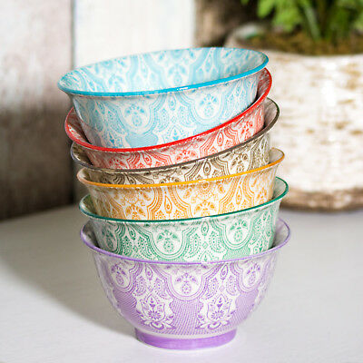 Set of 6 Oriental Ceramic Serving Bowls Rice Noodle Dip Home Decor Objects Items