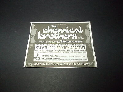 Chemical brothers-Brixton academy 1997-magazine advert