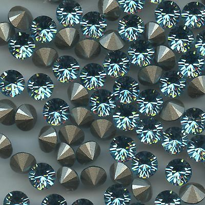 1028 SS34 LTQ *** 12 Strass Swarovski  fond conique 7,2mm   LIGHT TURQUOISE  F