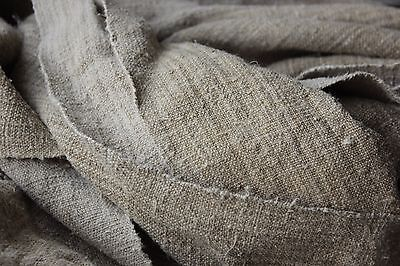 WASHED linen Grainsack grain sack fabric 5.1yds upholstery material old NUBBY