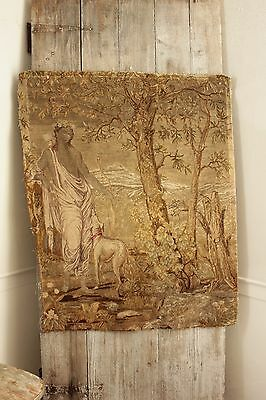 Antique French needlework tapestry needlepoint 19th century