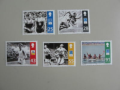 ISLE OF MAN, series of 5v, OLYMPIC LEGENDS, 2004, **/MNH