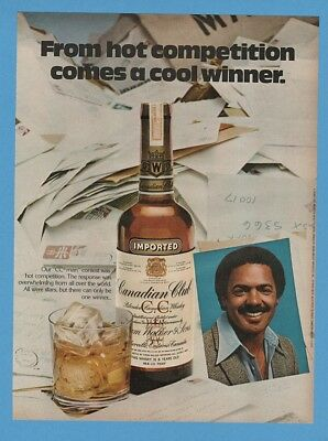 1979 Canadian Club Whiskey Dennis Russell CC Man African American Black Ad
