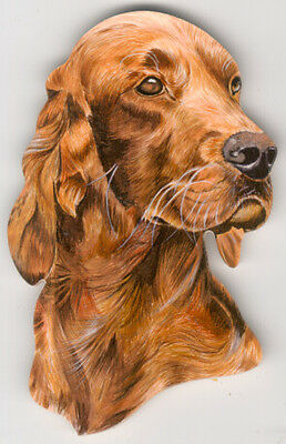 Irish Setter Head Study Set of 2 Wooden Magnets