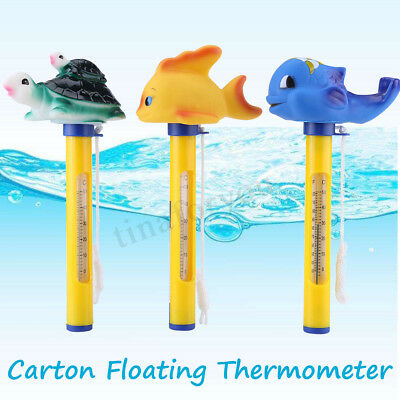 Goldfish Animal Water Swimming Pool Spa Floating Thermometer -20~120℉ Bath Tub