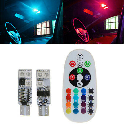 2pcs t10 5050 rgb 6led auto keil breite side leselicht lampen birne remote eur 3 69. Black Bedroom Furniture Sets. Home Design Ideas