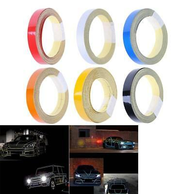 1cmx5m Car Truck Reflective Roll Tape Film Safety Warning Ornament Sticker Decor