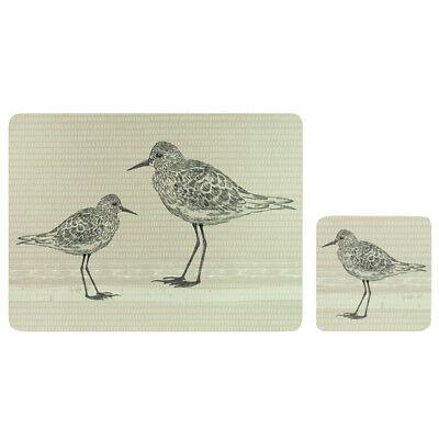 English Tableware Co. Sandpiper Placemats and Coasters, Set of 4 Table Mats Pack