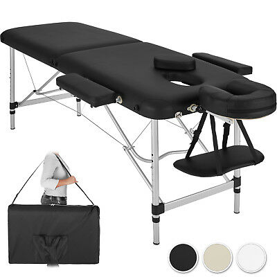 Mobile Alu Massageliege Massagetisch Massagebank klappbar 2 Zonen + Tasche