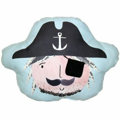 Pirates Ahoy Eye Patch Pocket Cushion Boys Bedroom Blue By Arthouse