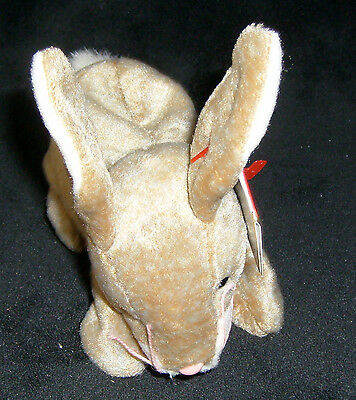TY Original Beanie Baby NIBBLY the BUNNY Date of Birth May 7, 1998 - New w/tag