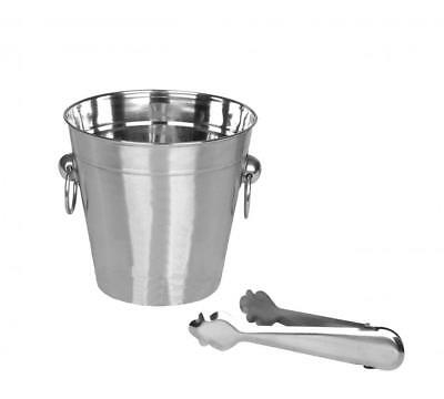 Mirror Polished Champagne Ice Cube Serving Bar Party Bucket with Tongs