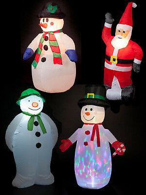 1.2m/ 1.8m Inflatable Snowman Outdoor Decoration LED Garden Christmas Grotto
