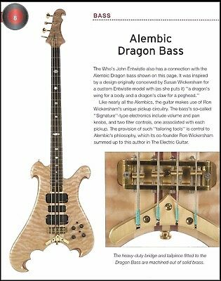 The Alembic Dragon + John Entwistle Spider electric bass guitars 6 x 8 article