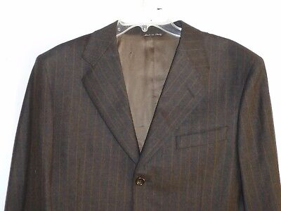 $2950 38R 32x29 Canali Cashmere Wool Brwn Pinstripe Mens Suit ITALY 48 Nordstrom