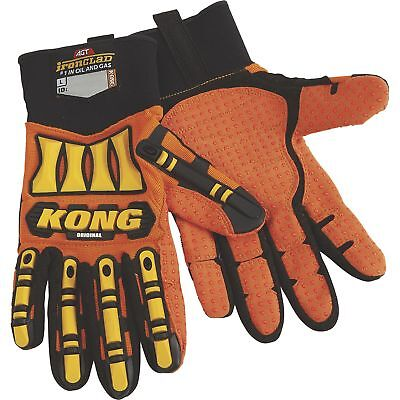 KONG Original Oil and Gas High Visibility Impact-Resistant Gloves- Orange, Large