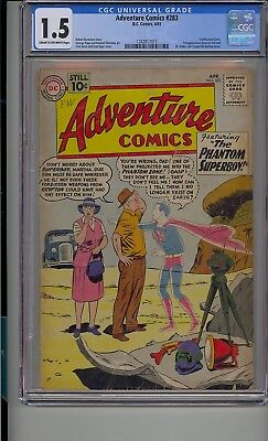 Adventure Comics #283 Cgc 1.5 1St General Zod & Phantom Zone Dr Xadu