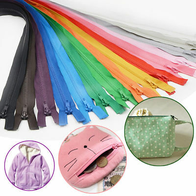 55 60 65 72 75cm Open Ended Zip Zippers Plastic Teeth For Clothes Bags Caft